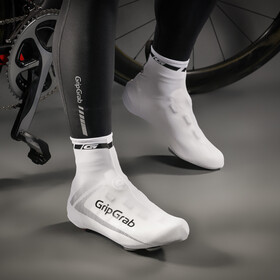 GripGrab RaceAero Lightweight Lycra Shoe Cover white